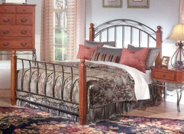Camelot Cherry Wooden Post Bed
