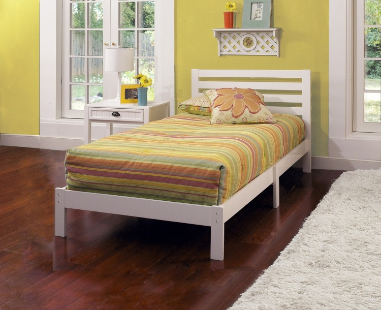 Aiden Twin Bed - White