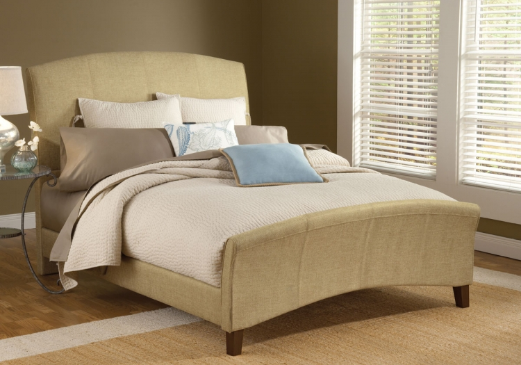 Edgerton Bed - Beige Tweed
