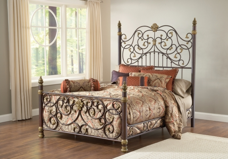 Stanton Bed - Old Brown Highlight - Hillsdale