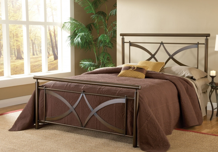 Marquette Bed - Brushed Copper