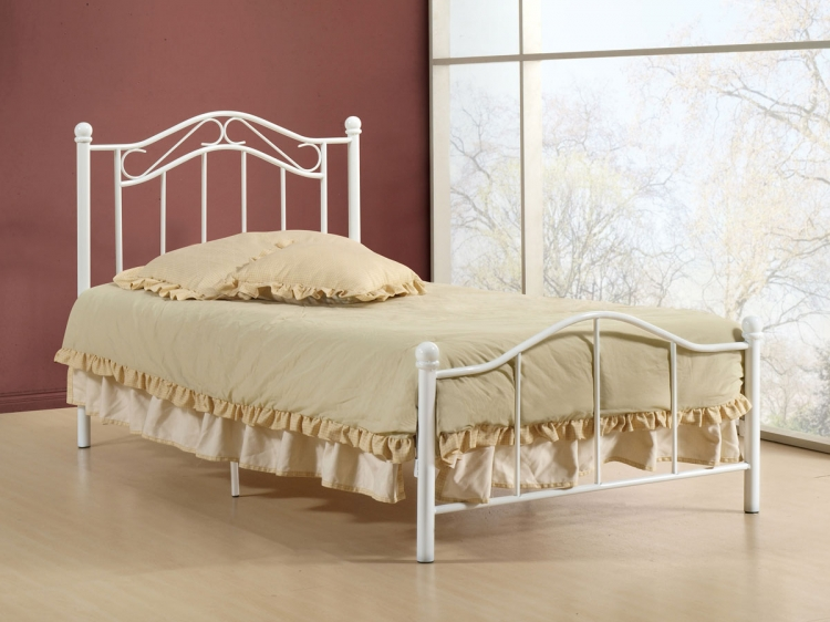 Gavin Twin Bed - White - Hillsdale