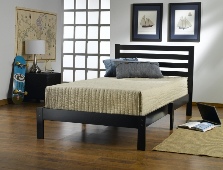 Aiden Twin Bed - Black - Hillsdale