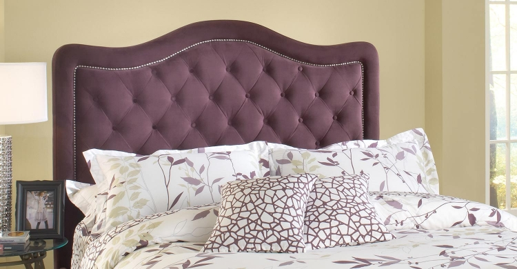 Trieste Tufted Upholstered Headboard - Purple