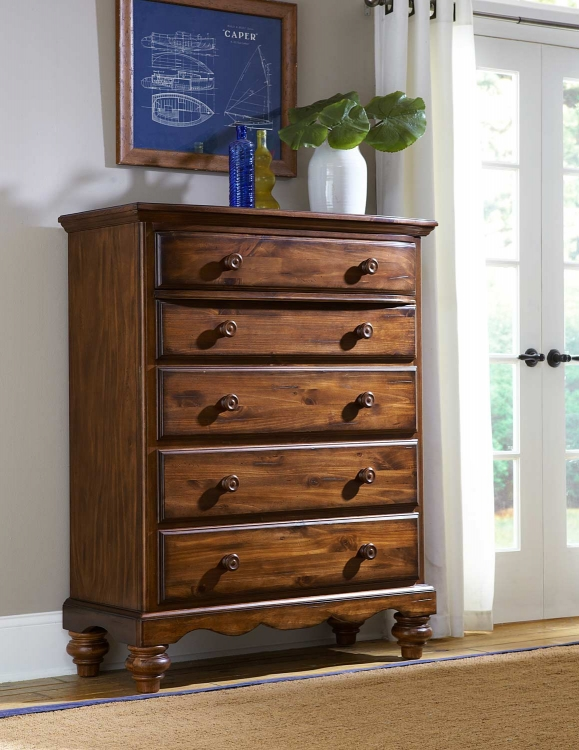 Hamptons Chest - Dark Pine - Hillsdale