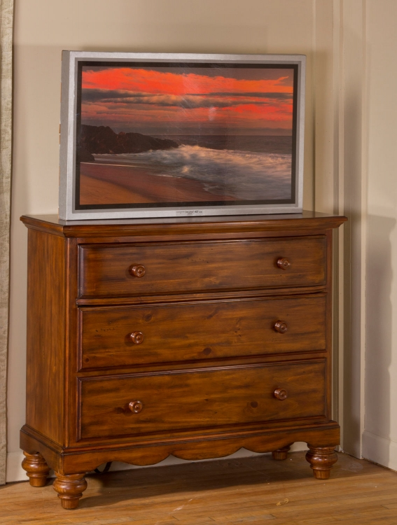 Hamptons TV Chest - Dark Pine - Hillsdale