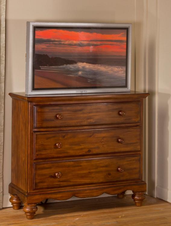 Hamptons TV Chest - Dark Pine