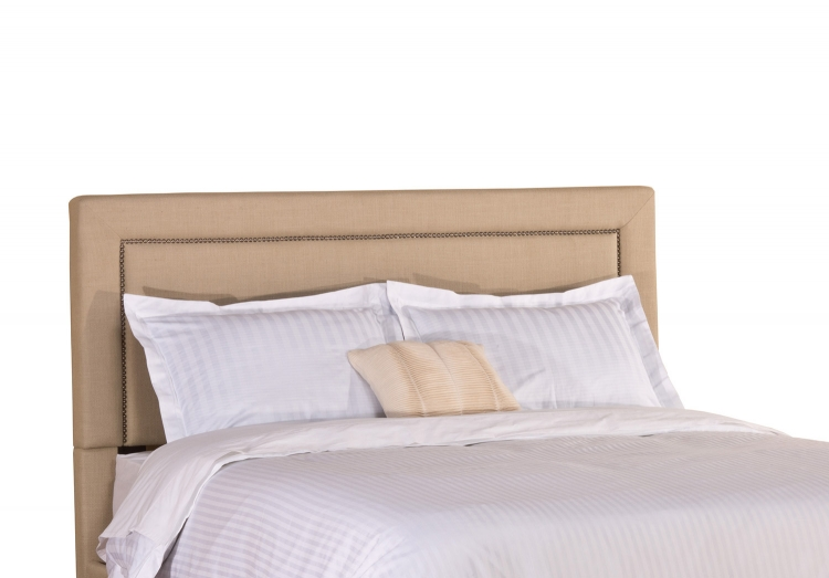 Claire Fabric Headboard - Soft Beige Fabric