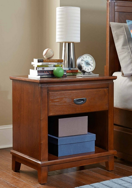 Bailey Night Stand - Mission Oak