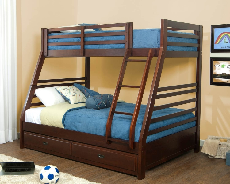 Bailey Twin/Full Bunk Bed with Trundle - Mission Oak