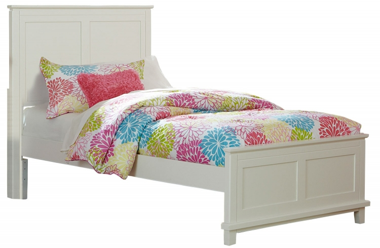 Bailey Panel Bed - White