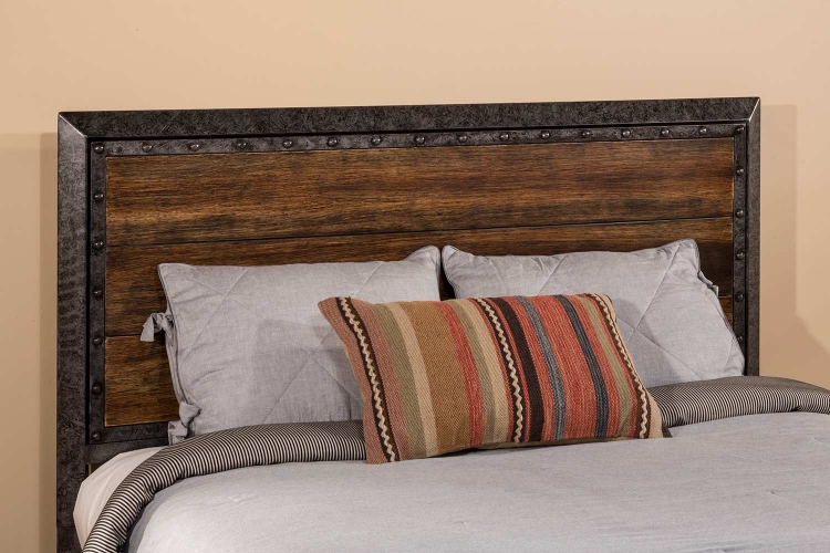 Mackinac Headboard - Old Black with Driftwood