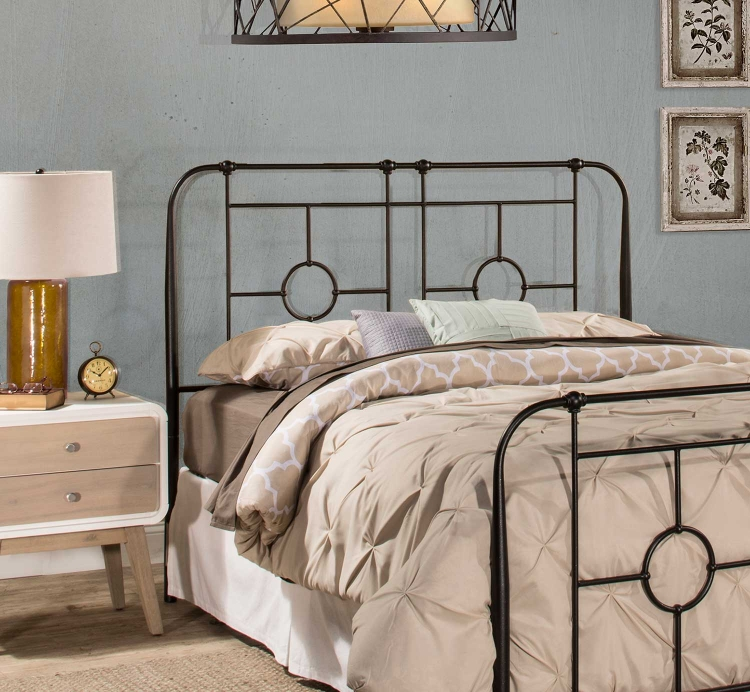 Trenton Headboard - Black Sparkle