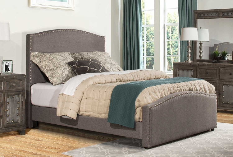 Kerstein Bed - Orly Gray Fabric