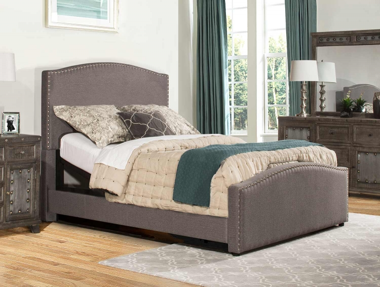 Kerstein Adjustable Bed - Orly Gray Fabric