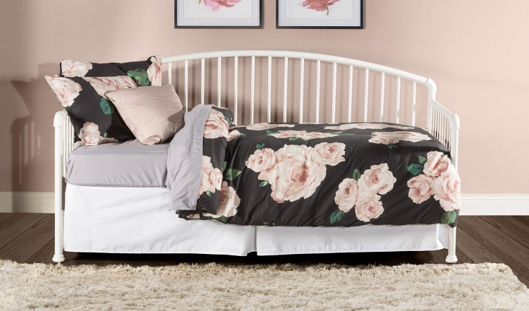 Brandi Daybed with Trundle - White