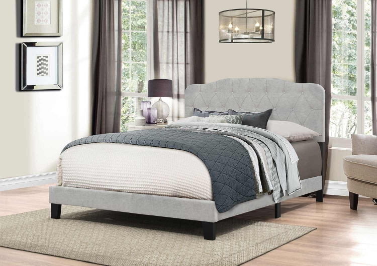 Nicole Bed - Glacier Gray Fabric