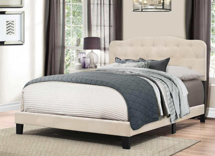 Nicole Bed - Linen Fabric