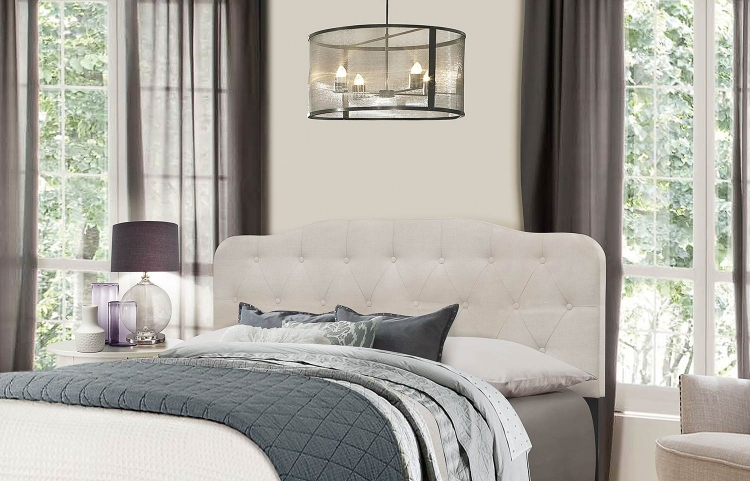 Nicole Headboard - Fog Fabric
