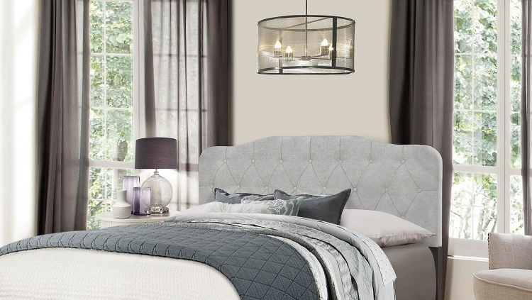 Nicole Headboard - Glacier Gray Fabric