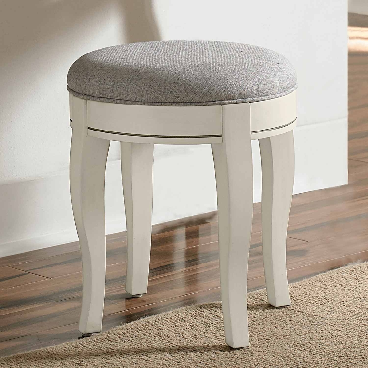 Kensington Stool - Antique White