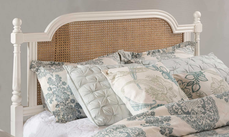 Melanie Metal Headboard - White