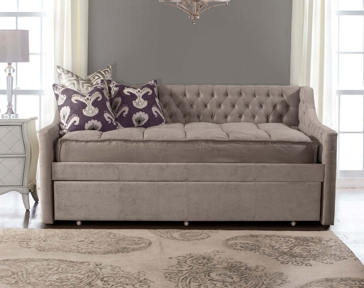 Jaylen Daybed with Trundle - Silver