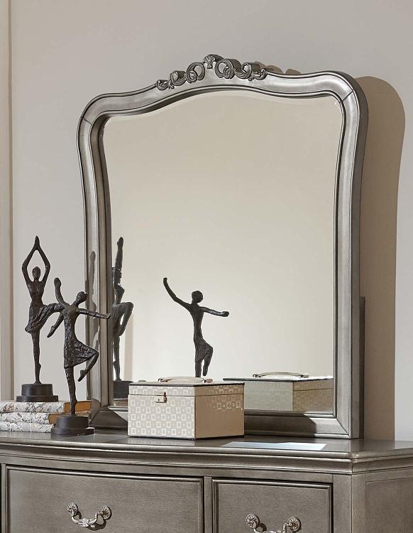 Kensington Mirror - Antique Silver