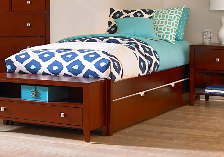 Pulse Platform Bed With Trundle - Cherry