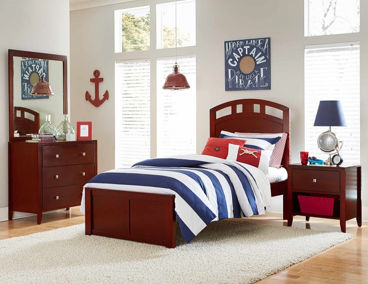 Pulse Arch Bedroom Set - Cherry