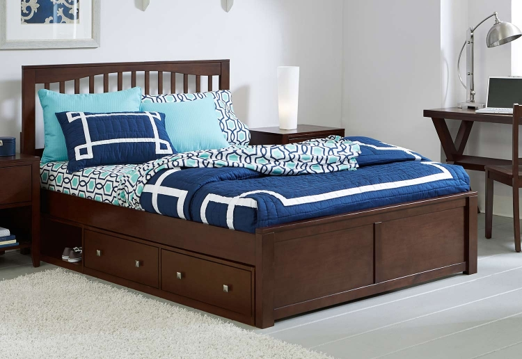 Pulse Mission Bed With Storage - Chocolate