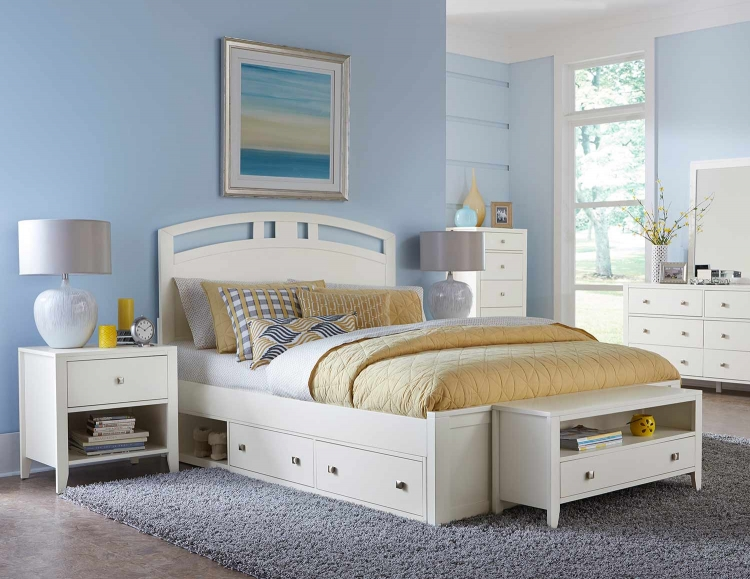 Pulse Arch Bedroom Set With Storage - White