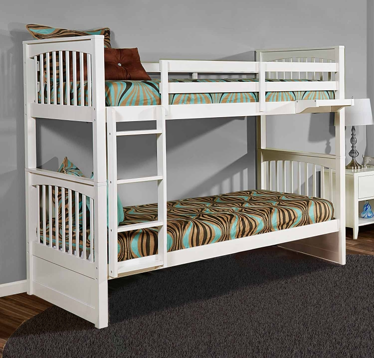 Pulse Twin Over Twin Bunk - White