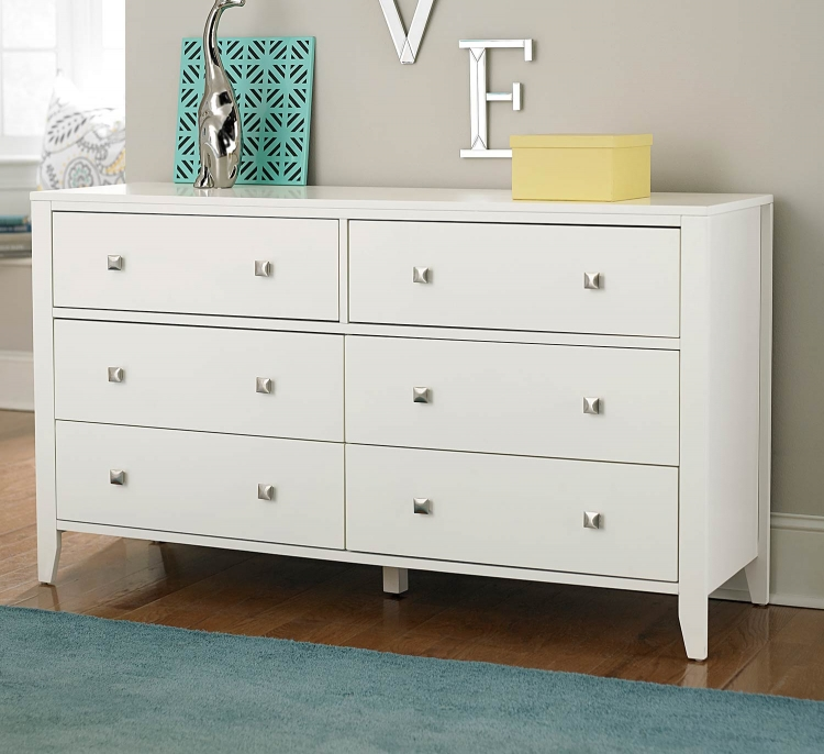 Pulse 6 Drawer Dresser - White