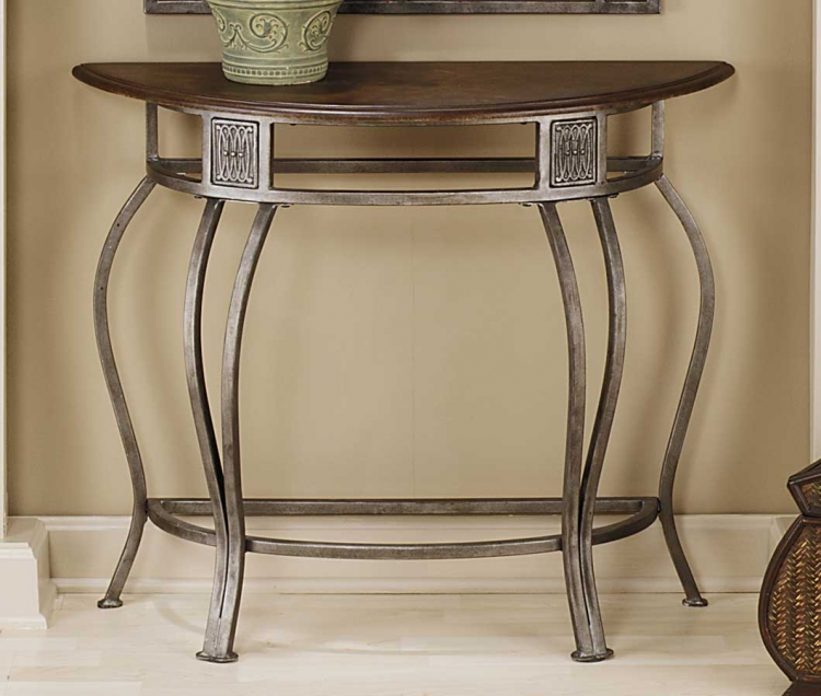 Montello Console Table with Wood Top - Hillsdale