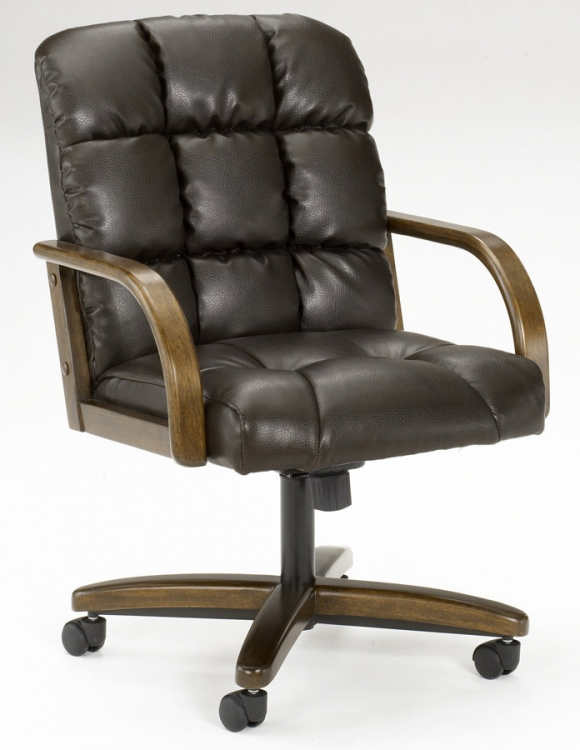 Frankfort Leather Caster Chair