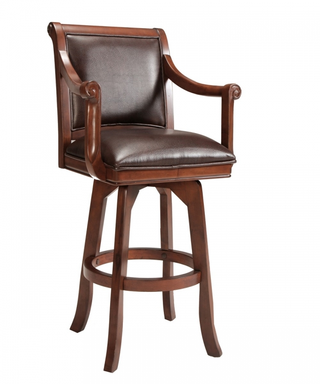 Palm Springs Counter Stool - Cherry - Dark Brown