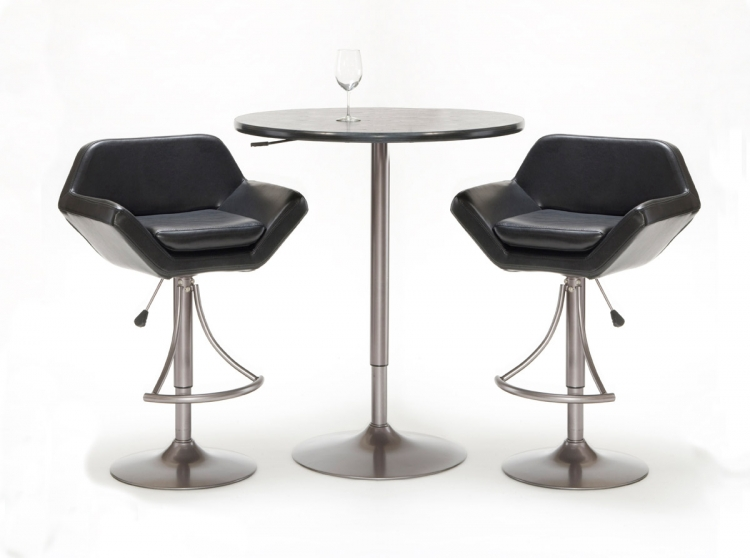 Valencia 3-Piece Adjustable Table and Bar Stool Set