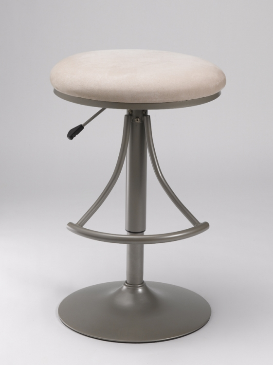 Venus Backless Swivel Bar Stool with Fawn Suede - Hillsdale