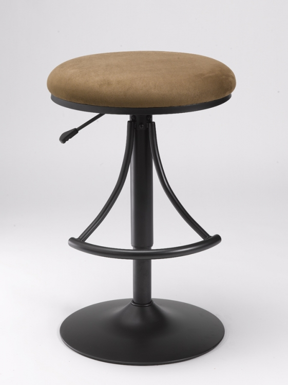 Venus Backless Swivel Bar Stool with Bear Suede - Hillsdale