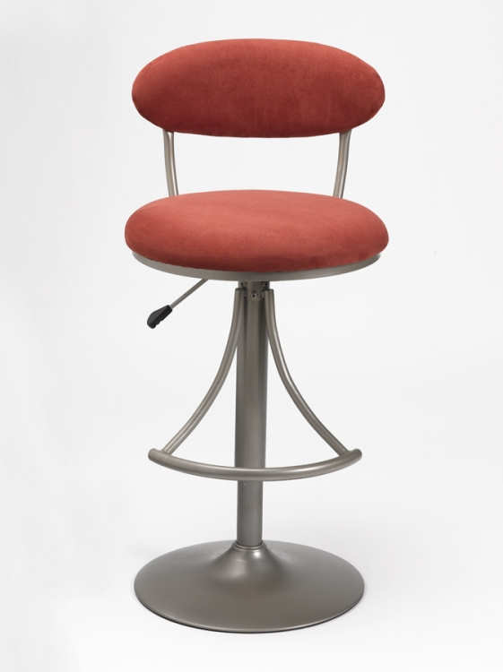 Venus Metal Swivel Bar Stool with Flame Suede - Hillsdale