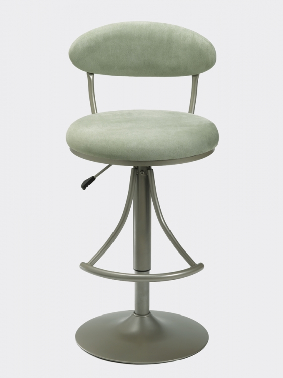 Venus Metal Swivel Bar Stool with Atmosphere Suede - Hillsdale