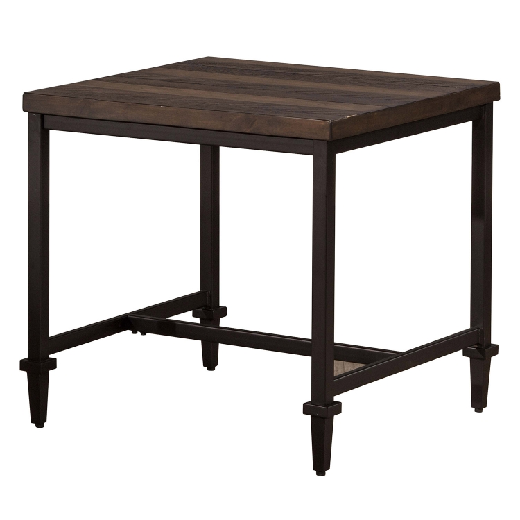 Trevino End Table - Walnut/Brown