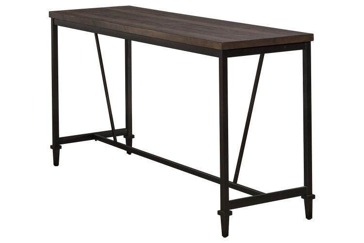 Trevino Counter Height Table - Walnut/Brown