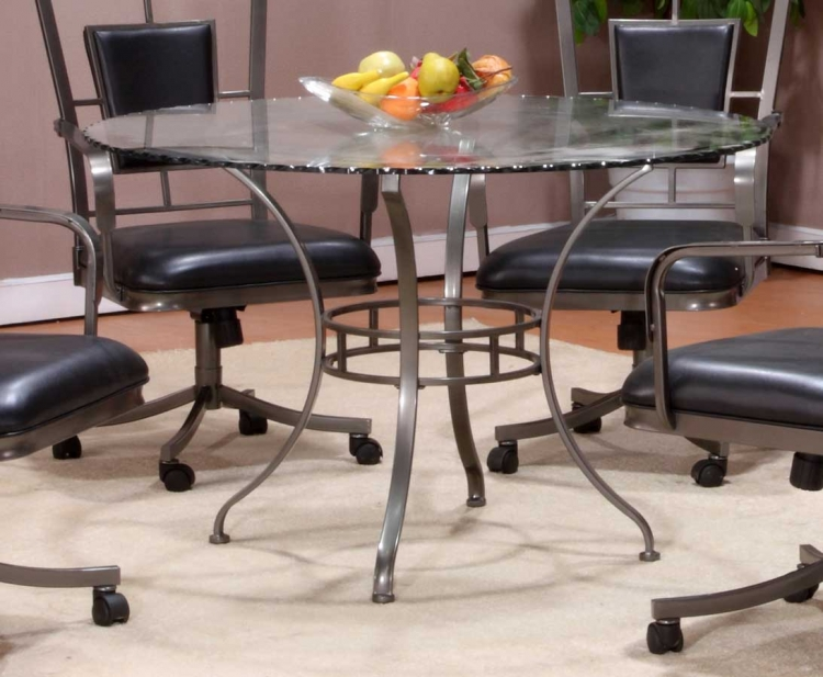 Auckland Round Glass Dining Table