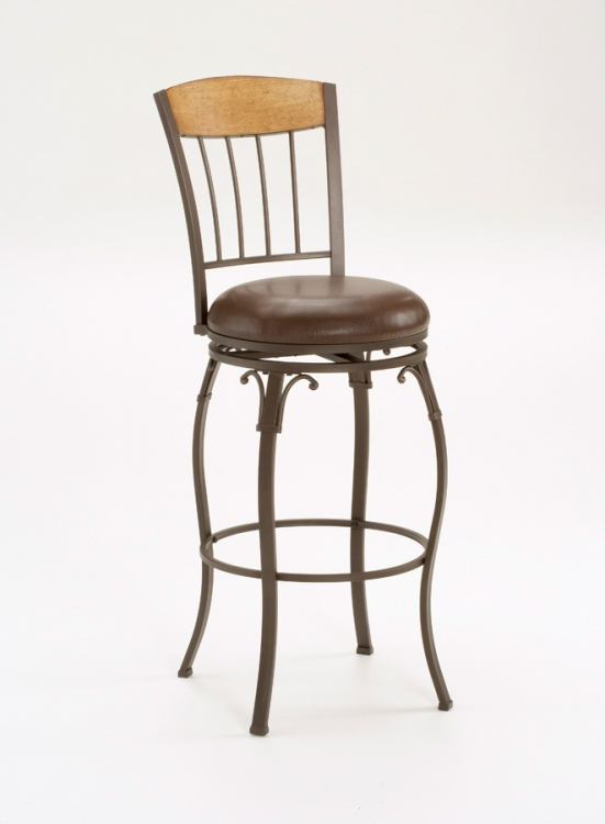 Lakeview Swivel Wood Counter Stool