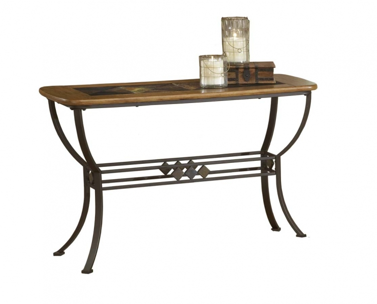 Lakeview Sofa Table with Wood and Slate Top - Hillsdale