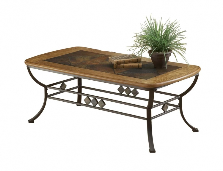 Lakeview Cocktail Table With Wood and Slate Top - Hillsdale