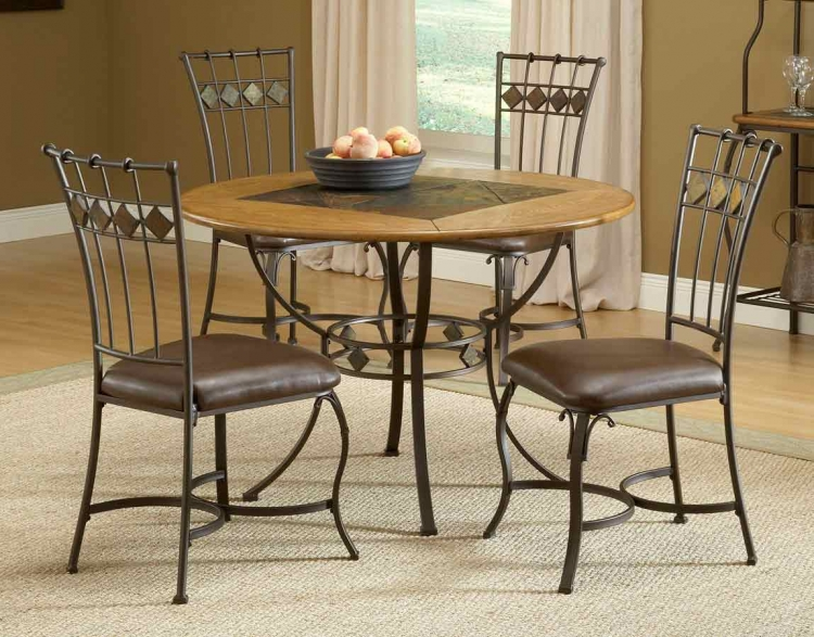 Lakeview Round Dining Collection with Slate Chair