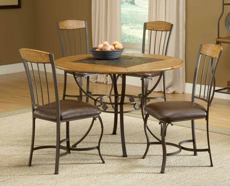 Lakeview Round Dining Collection with Wood Chair - Hillsdale